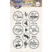 Gennemsigtige frimærker, 15 motiver, engelsk