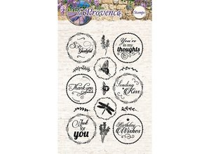 Studio Light Gennemsigtige frimærker, 15 motiver, engelsk