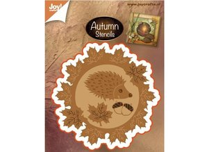 Marianne Design Stamping and Embossing stencil: Autumn leaf