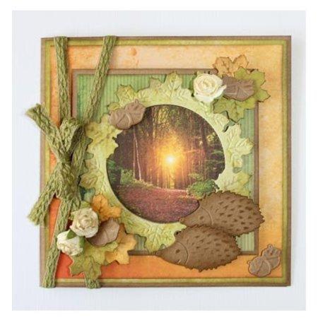 Marianne Design Stempling og prægning stencil: Efteråret blad