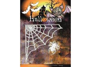 Yvonne Creations Stempling og prægning stencil, Yvonne Creations, Halloween Spider Web