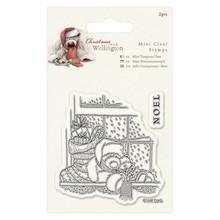 Papermania Gennemsigtige frimærker, Jul Teddy Wellington ved vinduet