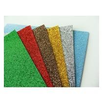 5 x Glitter-Papier, A5