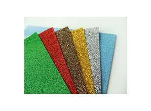BASTELZUBEHÖR / CRAFT ACCESSORIES 5 x Papel Glitter, A5