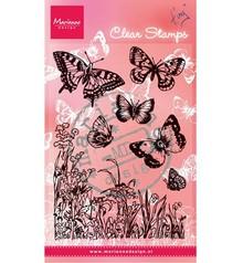 """Marianne Design Gennemsigtige frimærker, """"sommerfugle og blomster"""""""