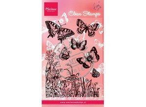 "Marianne Design Transparent stamps, ""butterflies and flowers"""