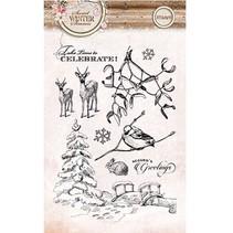 Transparent stamps, Sweet Winter season