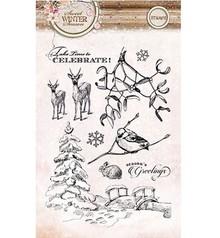 Stempel / Stamp: Transparent Gennemsigtige frimærker, Søde Vintersæson