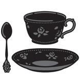 Marianne Design Stanz- und Prägeschablonen, Kaffeetasse, untertasse und Löffel