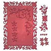 Stampen en Embossing stencil, kerst motieven
