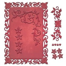 Spellbinders und Rayher Stamping and Embossing stencil, Christmas motifs