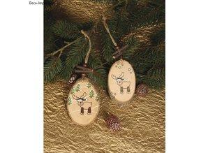 Stempel / Stamp: Holz / Wood Mini træ stempel Funny Elche