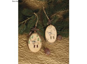 Stempel / Stamp: Holz / Wood Mini wood stamp Funny Elche