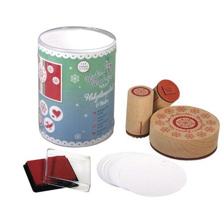 """Stempel / Stamp: Holz / Wood Specialudgave: mini træ stempel """"Winter Wonderland"""""""