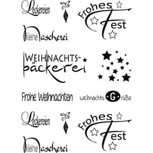 Stempel / Stamp: Transparent Transparent stamps, German Christmas wishes