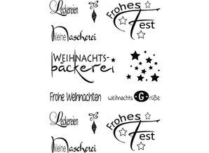 Stempel / Stamp: Transparent Gennemsigtige frimærker, tysk jul ønsker