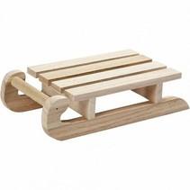 Trineo de madera resistente para la pintura y la decoración