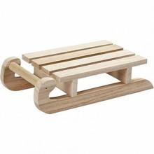 Objekten zum Dekorieren / objects for decorating Stabiler Holzschlitten zum bemalen und dekorieren