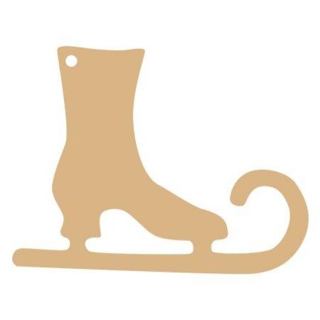 Objekten zum Dekorieren / objects for decorating 1 Paar Schlittschuhe zum bemalen und dekorieren
