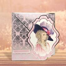 """Deluxe Bastelset met A4 geponst bogen, vele prachtige foto's en luxe Designer karton """"My Fair Lady"""""""