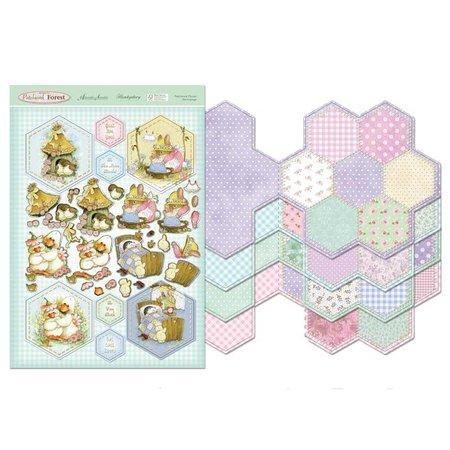Exlusiv Retur til Patchwork Skov - Patchwork Flower Card Kit