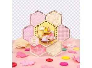 Exlusiv Ein hübsches Patchwork, Blumen Karten Set
