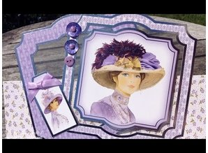 "Exlusiv Deluxe Bastelset with A4 punched arches, many great pictures and Luxury Designer cardboard ""My Fair Lady"""