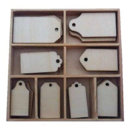 Objekten zum Dekorieren / objects for decorating Ornament kasse, med label 40 dele!