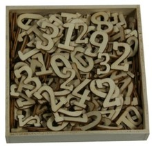 Objekten zum Dekorieren / objects for decorating Ornament box, with numbers big and small, 256 pieces