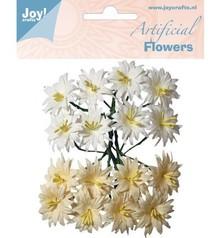 Joy!Crafts und JM Creation Plast blomster: lilje hvid / creme