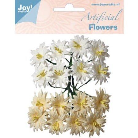 Joy!Crafts und JM Creation Kunststoff Blüten: Lilien weiß/creme