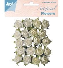 Embellishments / Verzierungen Fiori di plastica: Rose bianco / crema