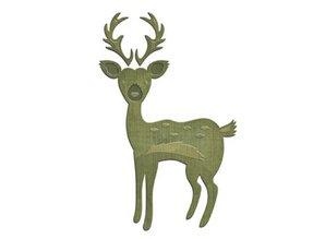 Spellbinders und Rayher Skæring og prægning stencils, rensdyr