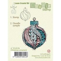 Transparent stamps, Doodle Christmas ornament
