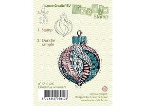 Leane Creatief - Lea'bilities Sellos transparentes, ornamento del Doodle de la Navidad