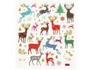"""Sticker Pegatinas de papel de aluminio autoadhesivas con grandes motivos navideños """"renos"""" y efecto brillo"""