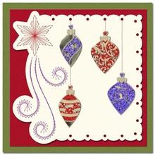 Sticker Ziersticker, præget julen bold