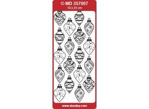 Sticker Ziersticker, impresso palla di Natale