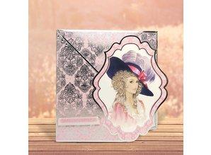 """Exlusiv Deluxe Bastelset med udstansede, flotte billeder og Luxury Designer pap """"My Fair Lady"""" Set No.1"""