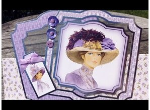 "Exlusiv Deluxe Bastelset with A4 punched arches, great pictures and Luxury Designer cardboard ""My Fair Lady"" Set No.3"