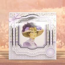 """Exlusiv Deluxe Bastelset con perforate, immagini grandi e di lusso cartone Designer """"My Fair Lady"""" Set No.3"""