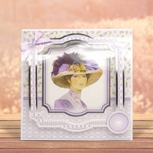 "Exlusiv Deluxe Bastelset med udstansede, flotte billeder og Luxury Designer pap ""My Fair Lady"" Set No.3"