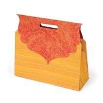 Stanzschablone, geschenkschachtel im Form eine Tasche