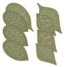 Spellbinders und Rayher Stanz- und Prägeschablonen, 8 verschiedenen Blätter mit Prägung