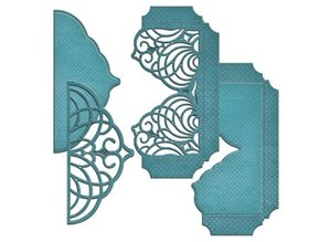 Spellbinders und Rayher Punching and embossing templates, cascading grace pocket