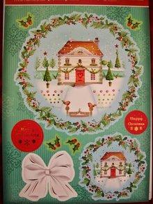 """Exlusiv Deluxe Bastelset con A4 pugno archi, cartone dal design di lusso """"di Natale"""""""