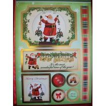 """Deluxe Bastelset con A4 pugno archi, cartone dal design di lusso """"di Natale"""""""