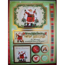 """Deluxe Bastelset with A4 punched arches, luxury designer cardboard """"Christmas"""""""