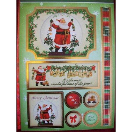 "Exlusiv Deluxe Bastelset con A4 golpeó arcos, cartón diseñador de lujo ""Navidad"""
