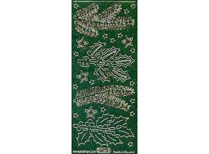 Sticker Glitter Ziersticker, Weihnachten